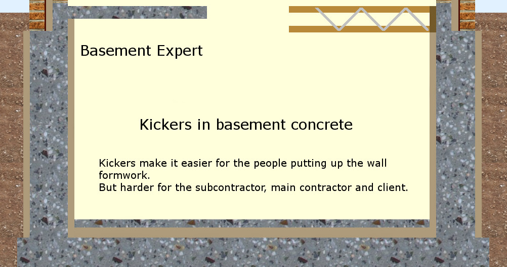 self build waterproof basement formwork membrane concrete kickers